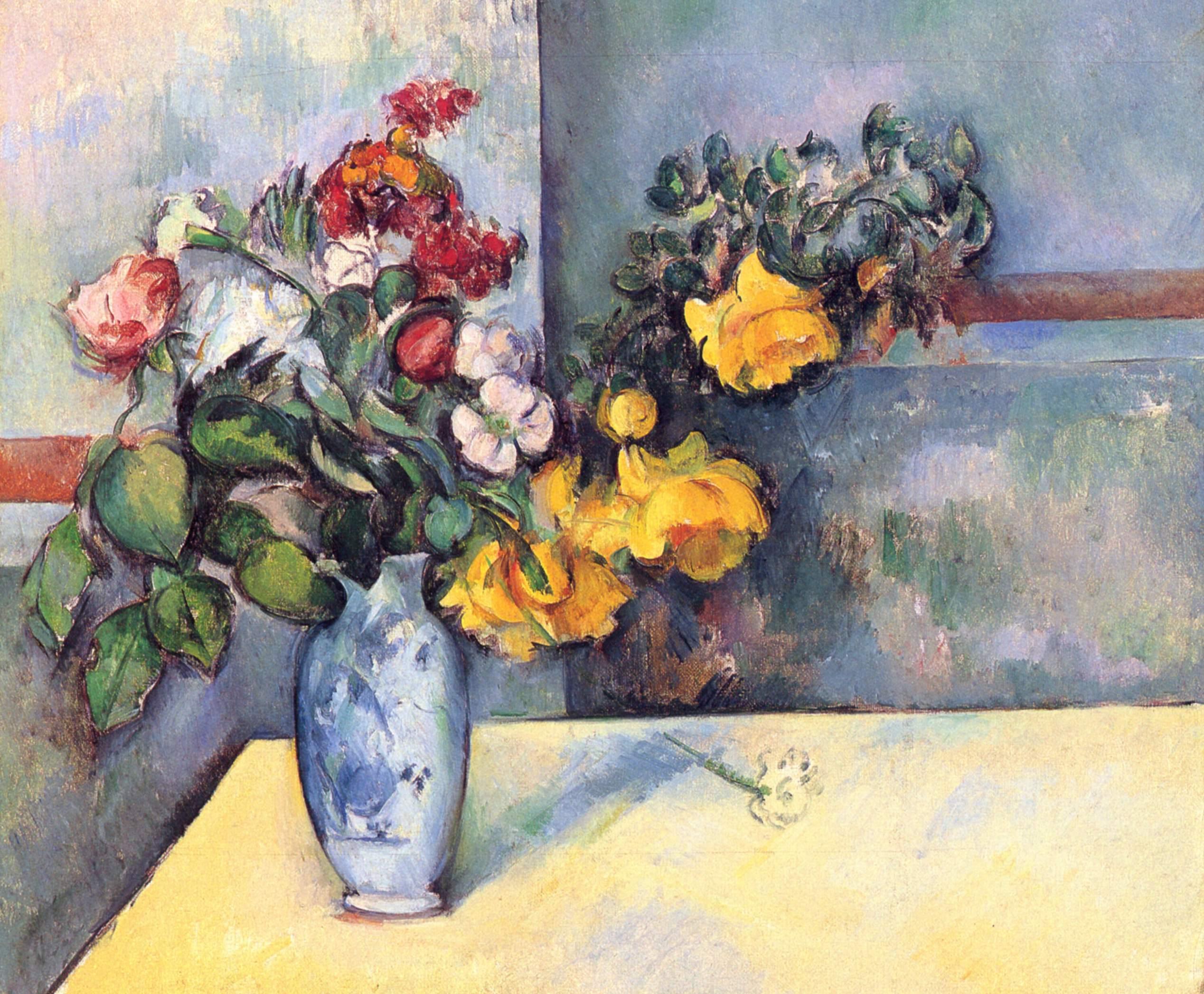 Поль Сезанн Натюрморт цветы в вазе. 1888г